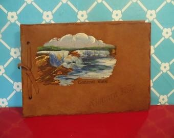 Vintage Leather Scrapbook - Niagara Falls Souvenir, General View