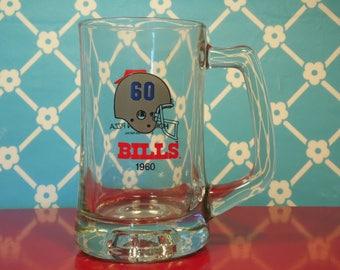 Vintage Buffalo Bills Beer Mug - Pizza Hut - 12 Oz