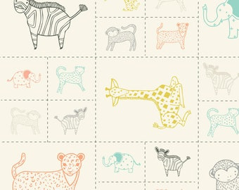 Savannah by Gingiber for Moda - Small Animal Panel - Cotton Quilt Fabric 817