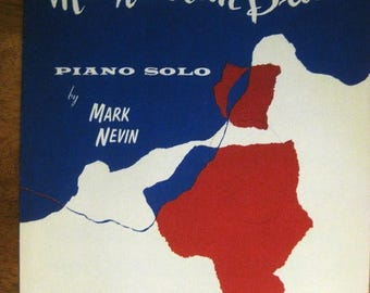 30% Off Clearance Sale 1962 Manhattan Blues Piano Solo Sheet Music by Mark Nevin