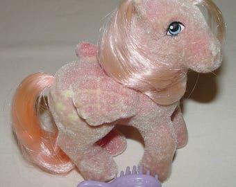 My Little Pony G1 Vintage Hippity Hop Pegasus So Soft Pony 1984 with Brush
