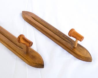 Vintage Mid Century Homco Wood Candle Sconces | Homco Candlestick Set | Mid Century Wall Mount Candlestick Holder