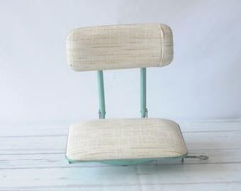 Frabil? Boat Canoe Clamp On Swivel Seat Padded Folding Portable Chair Aqua