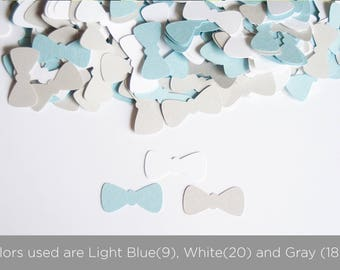 Little Man Baby Shower- BowTie Confetti - Baby Boy Shower - Bow Tie Confetti