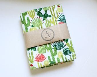 Gender Neutral Cactus Flannel Baby Blanket, Stroller Blanket, Nursing Cover, Bow and Blanket Set, Receiving Blanket, Summer Blanket