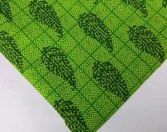 Green Tree Print Cambric Cotton - Hand Block Printed Soft Cotton Fabric - Dress Fabric-Printed Dress Cotton Fabric by Yard