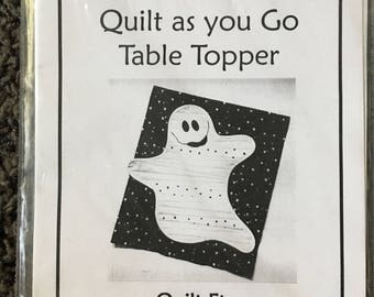 Casper the Ghost Quilt Table Topper Quilting Halloween Pattern Sewing