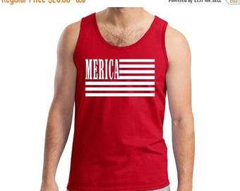 ON SALE NOW America Flag 4th of July Tank Shirt / Patriotic / Usa Shirt / America Shirt