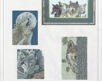 """Clearance - """"Wolves """" Counted Cross Stitch Chart by Pegasus Originals"""