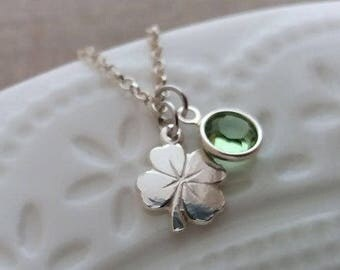 Graduation Gift For Her, Graduation Necklace, Four Leaf Clover Necklace, Sterling Silver Clover, Graduation Gift for Daughter