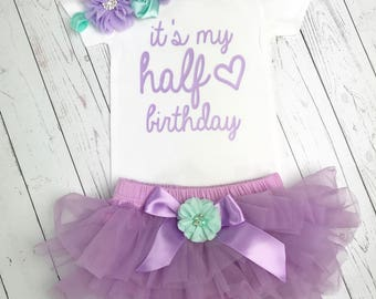 Half Birthday Outfit Girl, Birthday girl Outfit Purple, Girls Birthday,  birthday outfit, Birthday girl outfit, cake smash outfit, 6 months