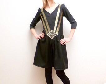 Black dress art deco