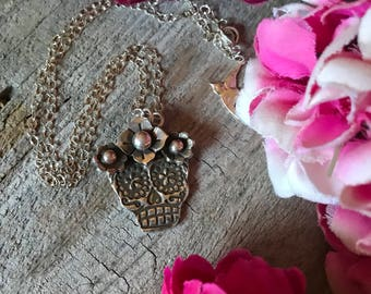 La Catrina Sugar Skull Necklace