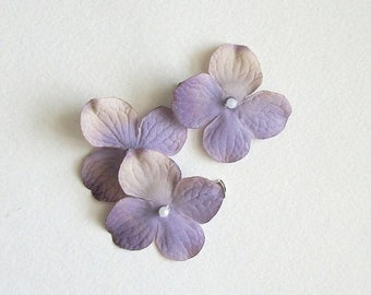 SUMMER SALE Purple Flower Hair Clips Lilac Light Purple Natural Flower Hair Clips Rustic Wedding Accessories Bridal Party Wedding Set Of Thr