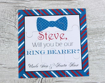 Ask Ring Bearer Will You Be My Page Boy Personalised Proposal Gift Will You be My Ring Bearer Puzzle Invitation Groomsman Usher Invitation