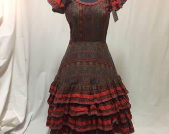 1950's Handmade Flamenco Dance Dress