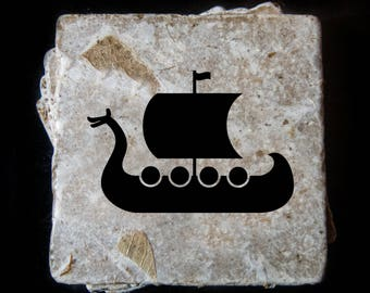 Viking ship coaster set. **Ask for free gift wrapping and have them sent directly to the recipient!**