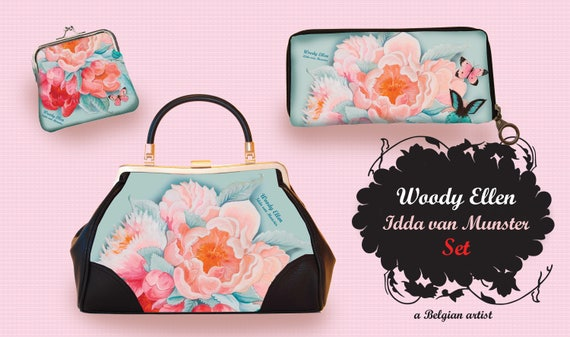 retro handbag set, vintage handbag set, Idda design, christmas, gift, gift for her, Woody Ellen handbag, christmas gift ideas,valentine gift