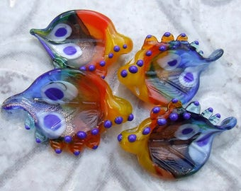 Lampwork Glass for Jewelry Making, 4 Wings, Organic Beads, Made to Order