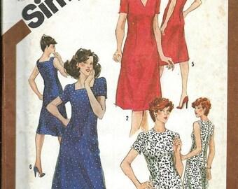 ON SALE Women's Slim-Fitting  Dress Pattern, Simplicity 9906, Sizes 40, Bust 44,  UNCUT