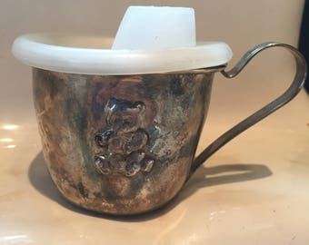 Vintage Silver plated sippy cup