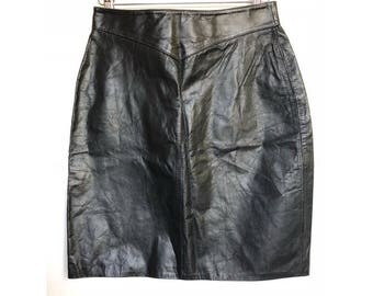 80s Leather Skirt