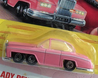 Thunderbirds Lady Penelope's Rolls-Royce toy car: FAB 1. Matchbox collectable car toy in original packaging 1992. Excellent condition.
