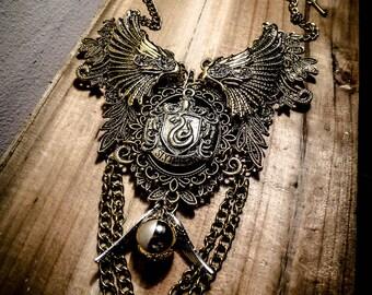Harry Potter ♰Serpentard♰ ormolu lace bib necklace