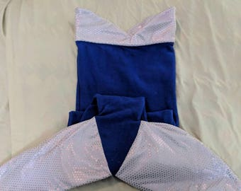 Blue and Pnk Small Child MermailTail Blanket