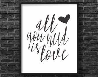 All You Need Is Love, The Beatles Print