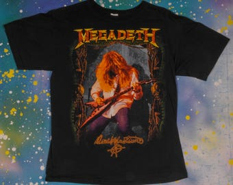 MEGADETH DAVE MUSTAINE Metal Rock T-Shirt Size L