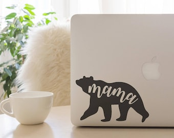 Mama Bear, Mama Bear Decal, Mama, Mama Bear Car Decal, Mama Bear Laptop Decal, Vinyl Decal, Yeti Decal
