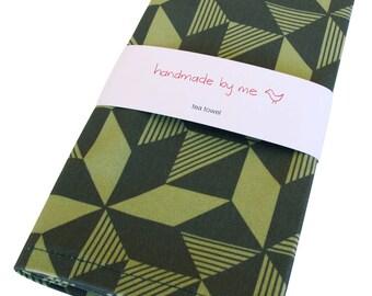 Geometric Greenery Tea/Dish towel