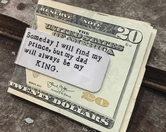 Personalized Money Clip - Hand Stamped Aluminum Money Clip - Someday I Will Find My Prince - Gifts for Dad - Groomsman - Wedding Favor