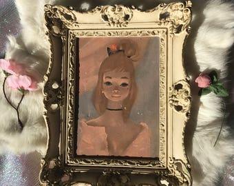Vintage Painting  Ballerina