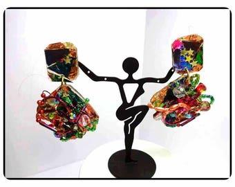Riot of Colors Earrings - Stars - Beads - Vines -  Earrings -   E8103a-063017010