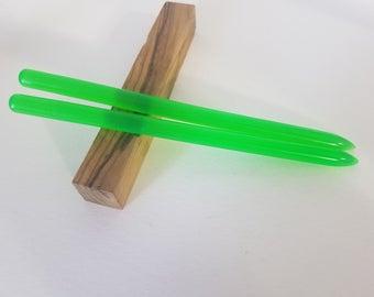 Neon Green acrylic hair stick (choose 1 or more)
