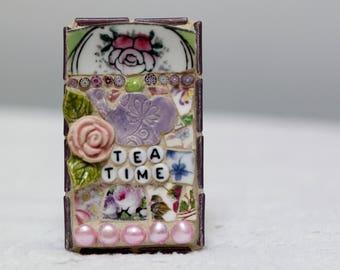 TEA TIME mosaic wall art, gift, mosaic, mosaic art