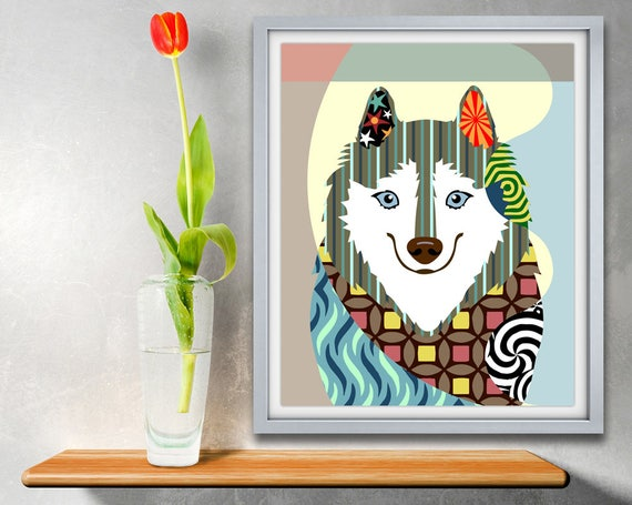 American Eskimo, Eskie, Dog Portrait, Dog Pop Art, Eskimo Dog Breed,  Dog Breed Poster, Dog Breed Print, Colorful Dog Art, Dog Poster