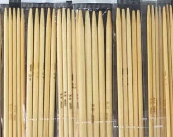 (5) knitting needles Double pointed wood