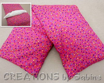 Corn Heating Pack Microwave with washable cover Therapy Spa Heat Bag pink polka dots rainbow colorful READY TO SHIP (489)