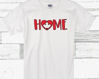 Home Canada inspired infant/todder shirt.