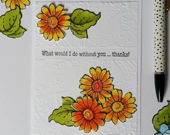 THANKS A2 Greeting Card