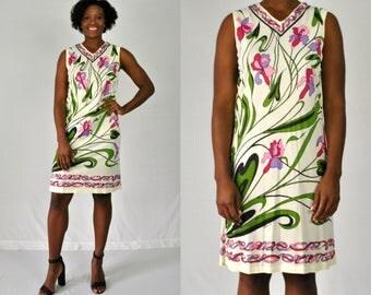 1960s Floral Shift Dress