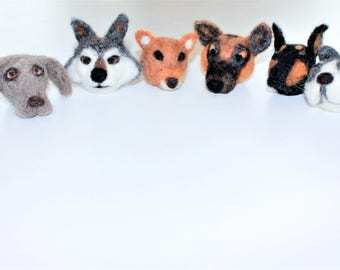 Made to order needle felted animal heads