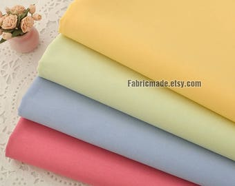 Solid Cotton Fabric Plain Magenta Blue Yellow Green Bright Fabric - 1/2 Yard