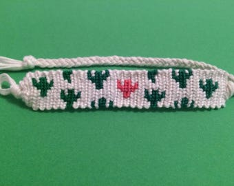 Quirky Cactus Woven Floss Friendship Bracelet