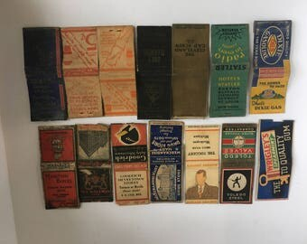 Vintage Match book covers lot
