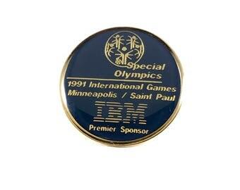 1991 Special Olympics / IBM  - Vintage Lapel Pin