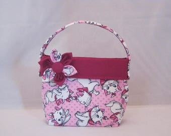Little Girls' Purse  Made With Aristocats Marie Inspired Fabric